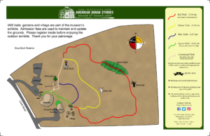 Trail maps for IAIS Museum & Research Center property
